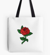 Rose Patch White Tote Bag