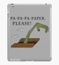 Paper Please! iPad Case/Skin