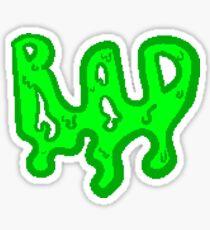 Retro Green Rad Sticker