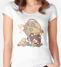 Little Sister Nap Time Women's Fitted Scoop T-Shirt