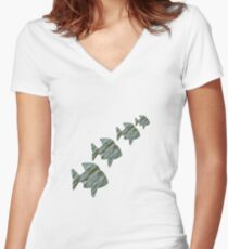 Fish 4 You Women's Fitted V-Neck T-Shirt