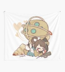 Little Sister Nap Time Wall Tapestry