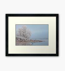 foggy winter landscape Framed Print
