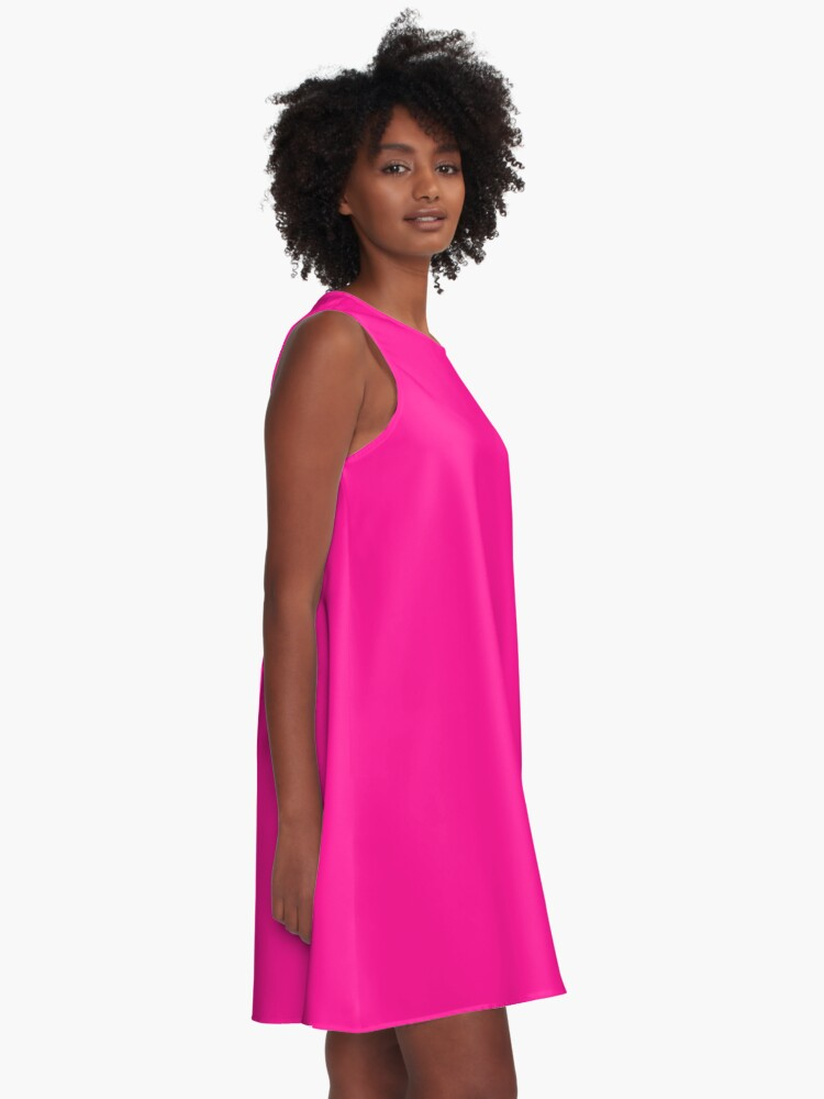 Alternate view of PLAIN SOLID DEEP PINK -100 PINK SHADES ON OZCUSHIONS ON ALL PRODUCTS  A-Line Dress