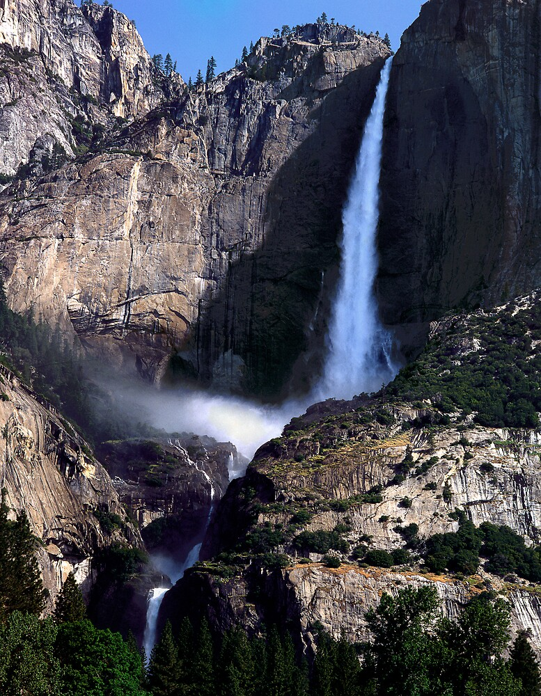 Yosemite Falls, Upper and Lower  Yosemite  CA by halnormank