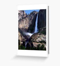 Yosemite Falls, Upper and Lower  Yosemite  CA Greeting Card
