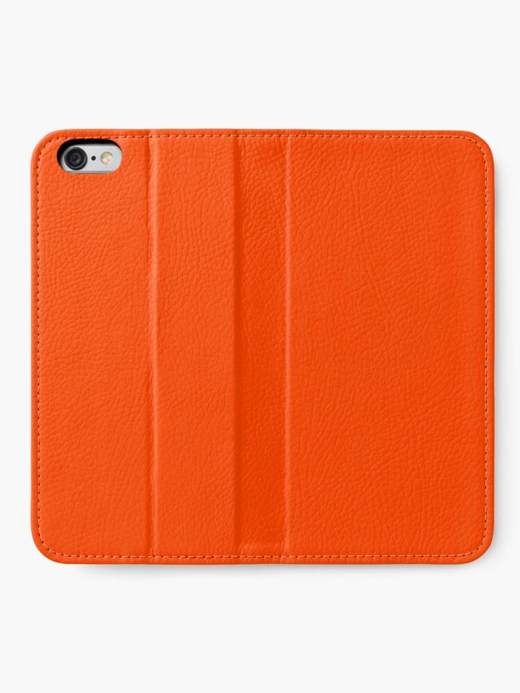 Alternate view of PLAIN ORANGE RED | SOLID COLOR ORANGE RED iPhone Wallet