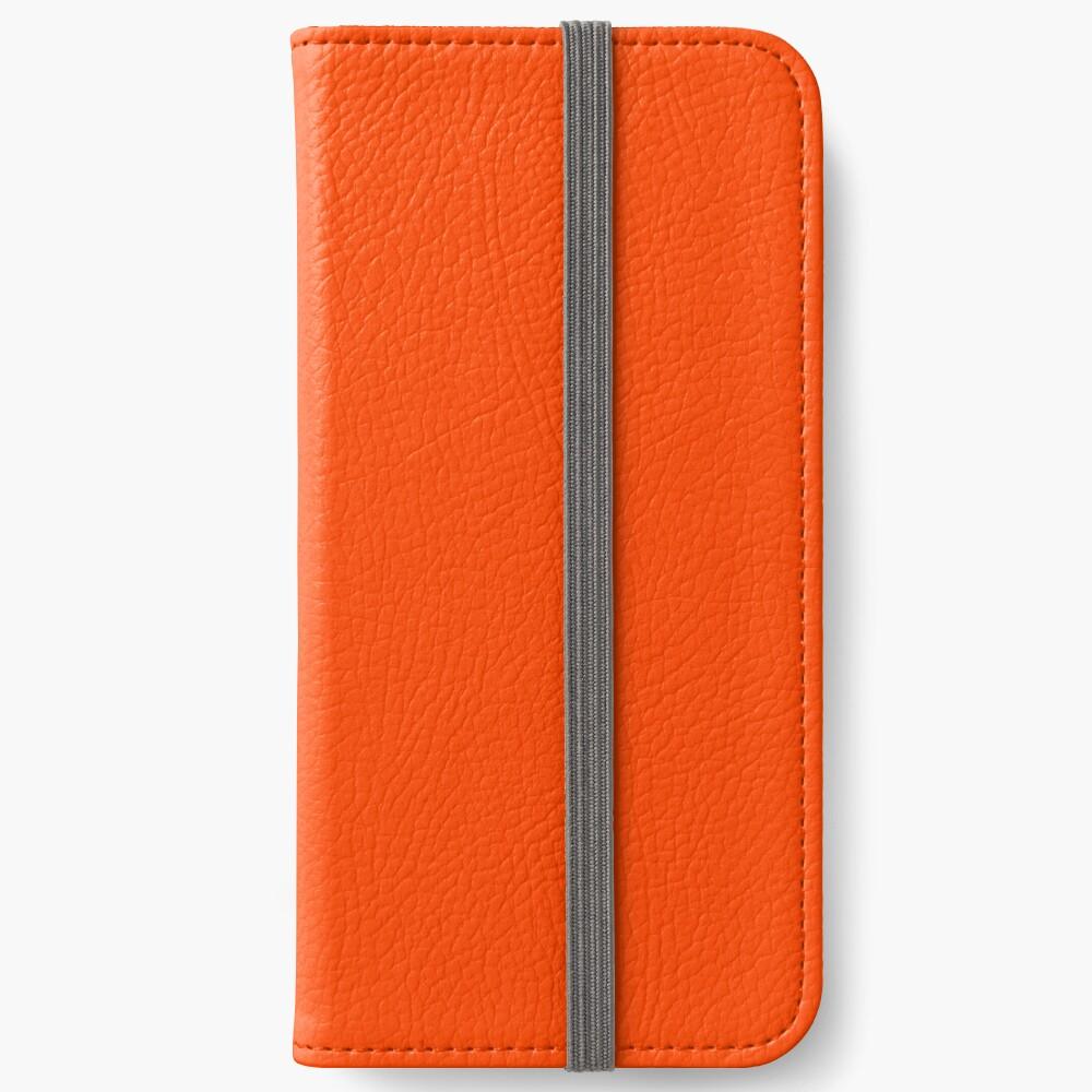 PLAIN ORANGE RED | SOLID COLOR ORANGE RED iPhone Wallet