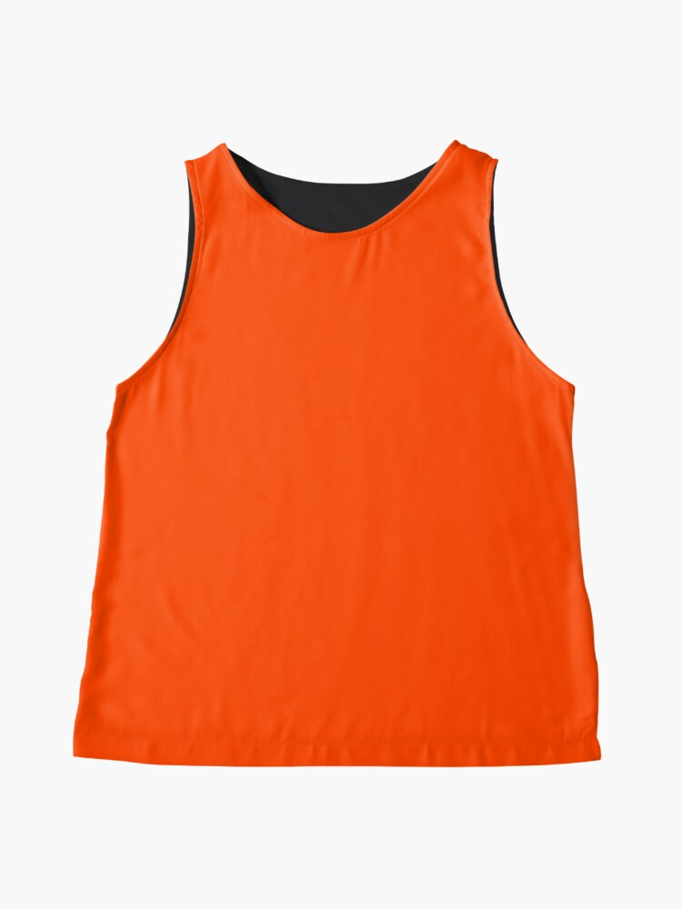 Alternate view of PLAIN ORANGE RED | SOLID COLOR ORANGE RED Sleeveless Top