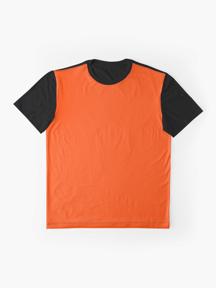 Alternate view of PLAIN ORANGE RED | SOLID COLOR ORANGE RED Graphic T-Shirt