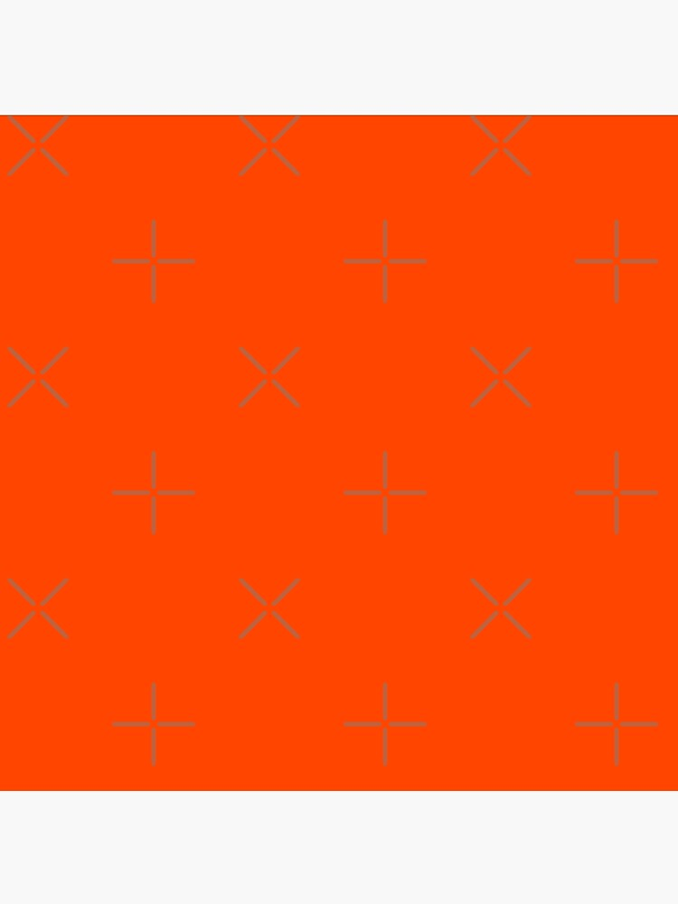 PLAIN ORANGE RED | SOLID COLOR ORANGE RED by ozcushions