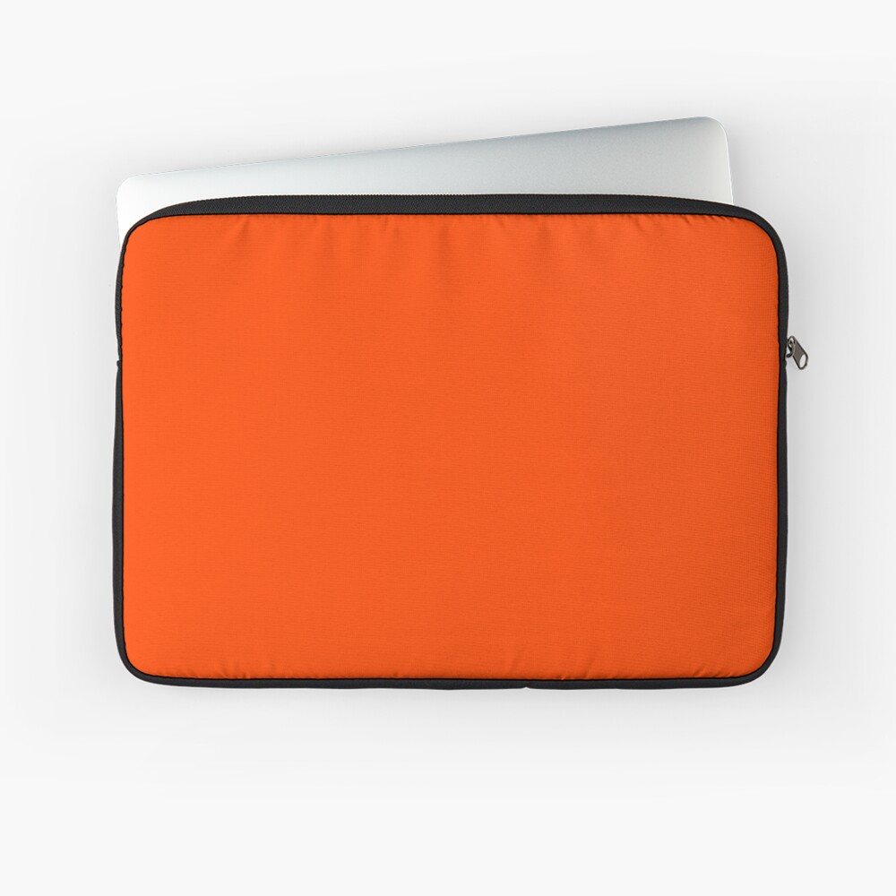 PLAIN ORANGE RED   SOLID COLOR ORANGE RED Laptop Sleeve