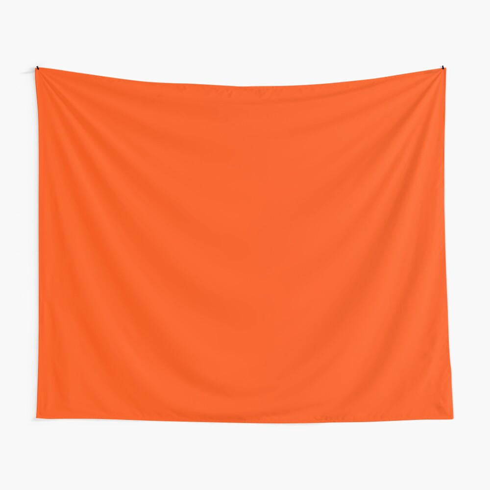 PLAIN ORANGE RED | SOLID COLOR ORANGE RED Wall Tapestry