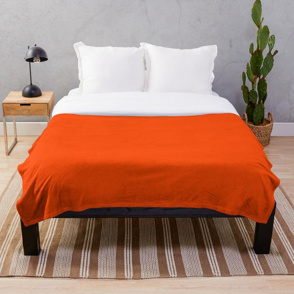 PLAIN ORANGE RED | SOLID COLOR ORANGE RED Throw Blanket