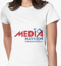 Media Mayhem Podcast Logo Women's Fitted T-Shirt