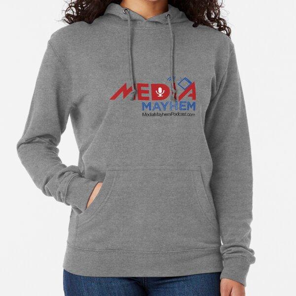 Media Mayhem Podcast Logo Lightweight Hoodie