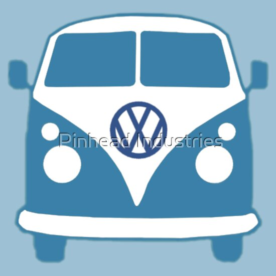 TShirtGifter presents: VW Camper T Shirt (blue)