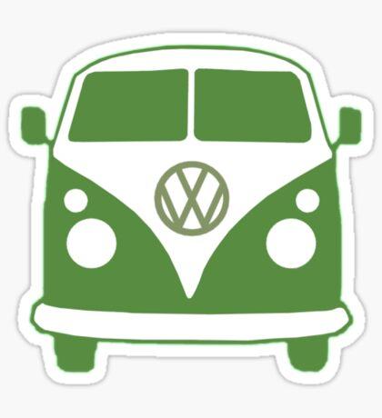 VW Camper T Shirt (green) Sticker
