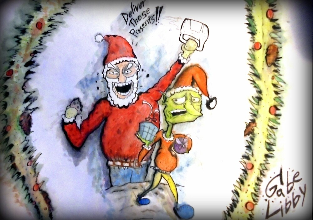 Deliver Those Presents! by GabeTheArtist