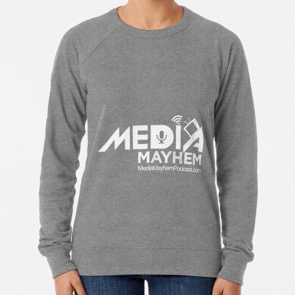 Media Mayhem Podcast Logo - White Lightweight Sweatshirt