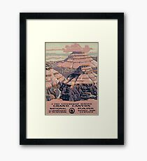 WPA United States Government Work Project Administration Poster 0015 Grand Canyon National Park Service Framed Print