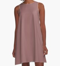 PLAIN COPPER ROSE | SHADES OF BROWN | HUES OF RED A-Line Dress