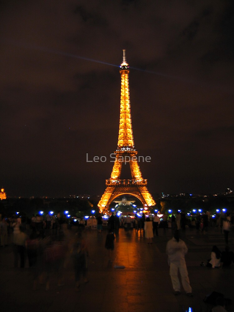 Eiffel Tower at night. by Leo Sapene
