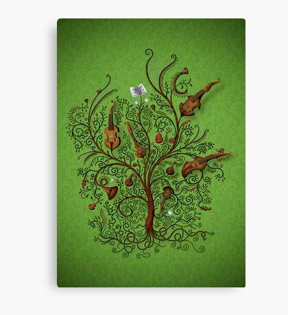 Orchestra (Green version) Canvas Print