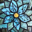 Blue Flowery Mosaic by Anne Marie  Price