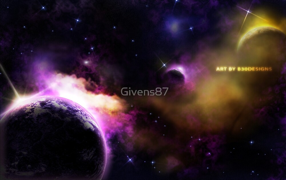 Space Astronomy Stars Planet Galaxy Design by Givens87