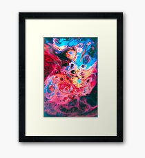 TIDEPOOL - Abstract, psychedlic Photoshop Framed Print