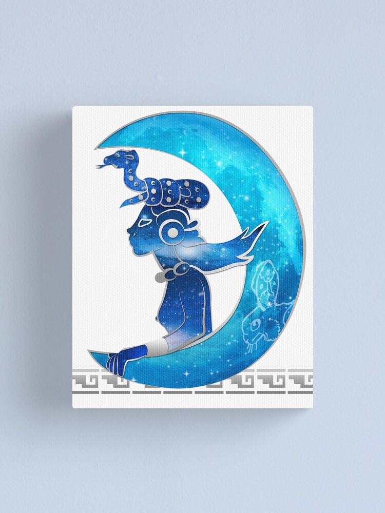 Mayan Aztec Art Poster Print Ancient Moon Goddess Ixchel