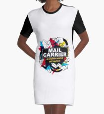 MAIL CARRIER - NO BODY KNOWS Graphic T-Shirt Dress