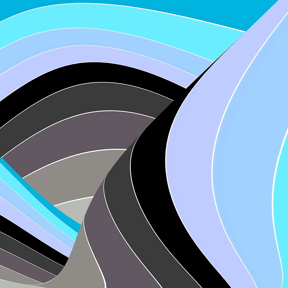 Curves in Gray and Turquoise by spotz
