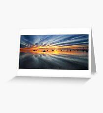 0480 Sunrise over Corio Bay - Geelong Greeting Card