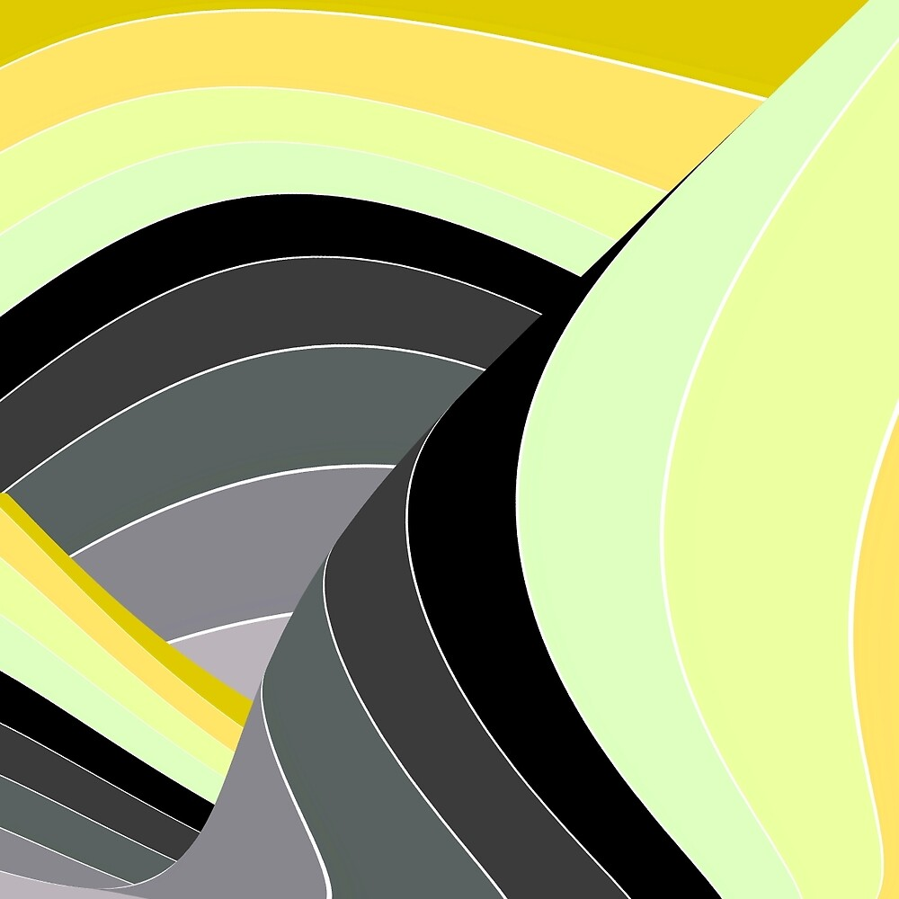 Curves in Gray and Yellow by spotz