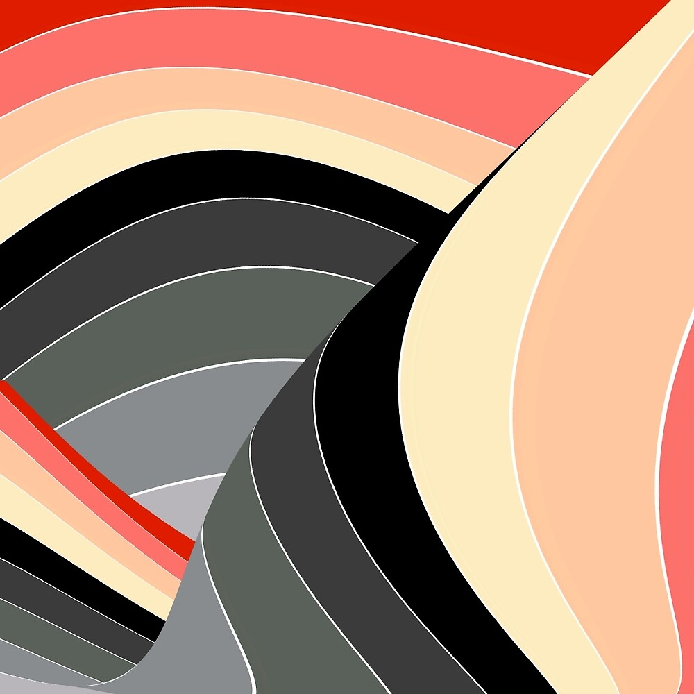 Curves in Gray and Orange by spotz