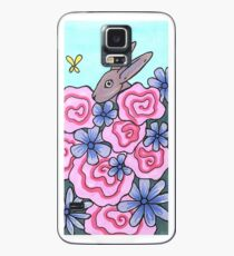 Bunny, Butterfly, and Flowers Case/Skin for Samsung Galaxy