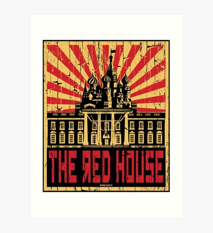 Vintage The Red House Art Print