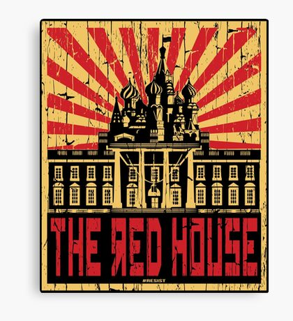 Vintage The Red House Canvas Print