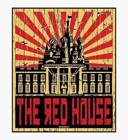 Vintage The Red House Photographic Print