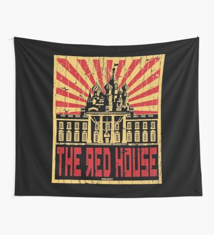 Vintage The Red House Wall Tapestry