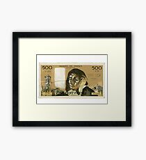 50 Old French Franc  note - Front side Framed Print
