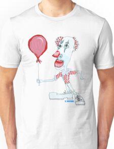 Circus Clown w. Red Ballon Unisex T-Shirt