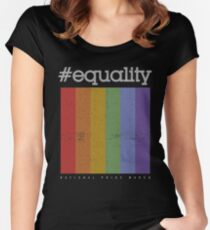 LGBT Equality Polaroid Vintage Women's Fitted Scoop T-Shirt