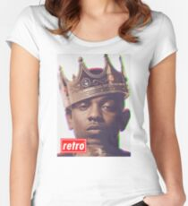 Kendrick Lamar - Retro  Women's Fitted Scoop T-Shirt