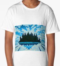 Blue Totem No.2 Long T-Shirt