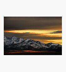 Saratoga Springs at Sunset Photographic Print