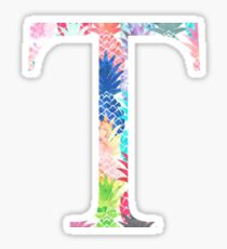 Tau T Watercolor Pineapples Sticker