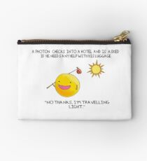 A Photon Travelling  Science Joke Studio Pouch